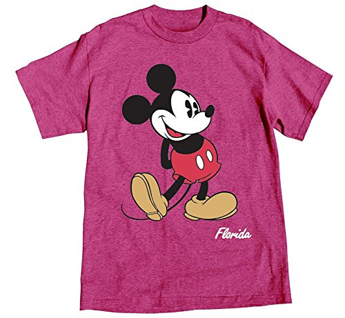 Disney Adult Womens T-shirt Mickey Mouse Head to Toe, Island Pink Heather (X-Large) (Adult Disney Characters)