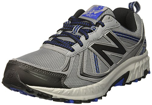 New Balance Men's MT410v5 Cushioning Trail Running Shoe, Grey, 9.5 D US