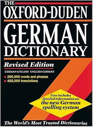 the oxford duden german dictionary german english english german amazon de j b sykes w scholze stubenrecht fremdsprachige bucher