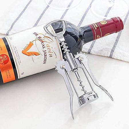 Sacacorchos de vino Palanca Sacacorchos Abrebotellas de vino con dos palancas antideslizantes para abridor de botellas en espiral para cerveza y vino.