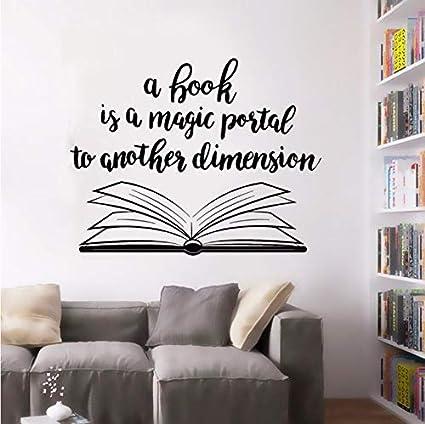 Cczxfcc Diseño De Libro Abierto Etiqueta De La Pared Biblioteca