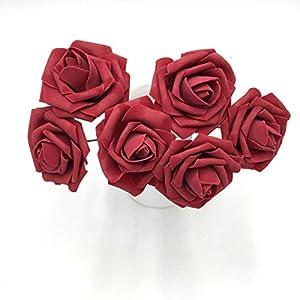 50 pcs Artificial Flowers Foam Roses for Bridal Bouquets Wedding Centerpieces Kissing Balls 7