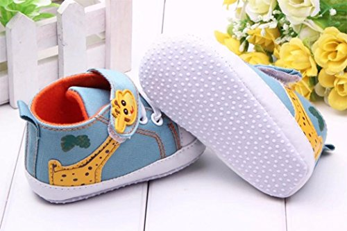 fossen Blanda Azul Primeros Antideslizante Bebe Niña Para Recién Del Zapatos Pasos Nacido Niño Suela BTqFpw
