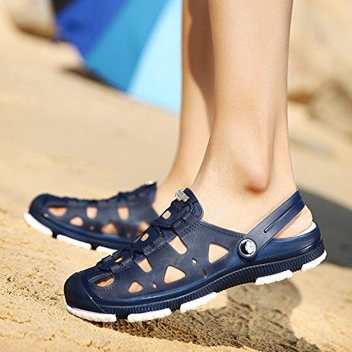 Xing Lin Flip Flop De La Playa Orificio Macho Zapatos De Primavera Y Verano Nuevos Hombres S Hueco Sandalias Informales No - Deslizamiento Juventud Zapatos Sandalias De Playa WY801 blue