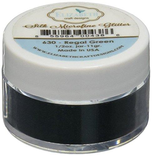 Elizabeth Crafts Silk Microfine Glitter 11 Grams-Regal Green