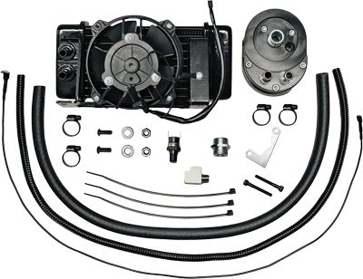 Jagg Oil - Jagg Oil Coolers Horizontal Low-Mount 10 Row Fan-Assisted Oil Cooler Kit - Black 751-FP2400