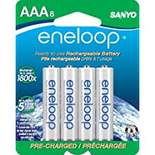 Eneloop 800Mah Typical 750Mah Minimum 1500 Cycle 8-Pack AAA Ni-MH Pre-Charged Rechargeable Batteries (SECHR4U8BPN)(Discontinued by Manufacturer)