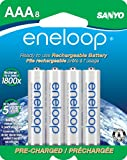 eneloop AAA 1800 cycle, Ni-MH Pre-Charged Rechargeable Batteries, 8 Pack (discontinued by manufacturer)