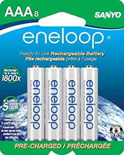 Eneloop 800Mah Typical 750Mah Minimum 1500 Cycle 8-Pack AAA Ni-MH Pre-Charged Rechargeable Batteries (SECHR4U8BPN)(Discontinued by Manufacturer) (B005ILYG4M) | Amazon price tracker / tracking, Amazon price history charts, Amazon price watches, Amazon price drop alerts