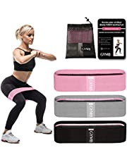 Booty Bands 3 Resistance Bands for Legs and Butt Exercise Bands Fitness Bands, Resistance Loops Hip Thigh Glute Bands Non Slip Fabric, Elastic Strength Squat Band, Workout Beginner to Professional