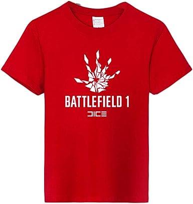 ACEGI - Battlefield 1 - Camiseta Estampada - Camiseta Hombre - Cuello Redondo - Moda - Camiseta algodón - Verano: Amazon.es: Ropa y accesorios