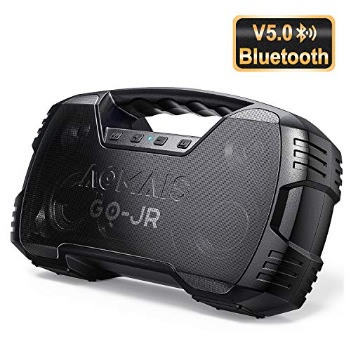 Portable Bluetooth Speakers V5.0, Waterproof Wireless Home Party Speaker, 25W Rich Bass Impressive Sound, 15 Hrs Playtime & Wireless Stereo Pairing, Built-in Mic, Durable for Camping, Indoor, Outdoor (Bauhn Bluetooth Speaker)