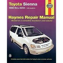 Toyota Sienna 1998 thru 2002: Haynes Repair Manual