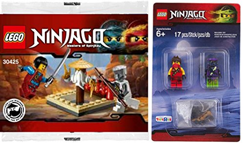LEGO Ninjago Battle Pack - Kai & Morro Figures + Lego CRU MASTERS' TRAINING GROUNDS - 30425 Polybag edition with mini figure Building Exclusive Set (Walmart Boy Toys)