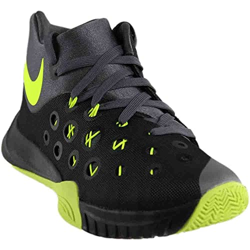 Nike Men's Zoom Hyperquickness 2015 Basketball Shoes, Black/Verde/Gris ( Black/