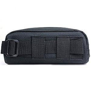 Huntvp Tactical Eyeglasses Soft Case Molle Zipper Sunglasses Carrying Case Portable Black