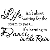 Words Sticker Life Isnt About Waiting for The Storm