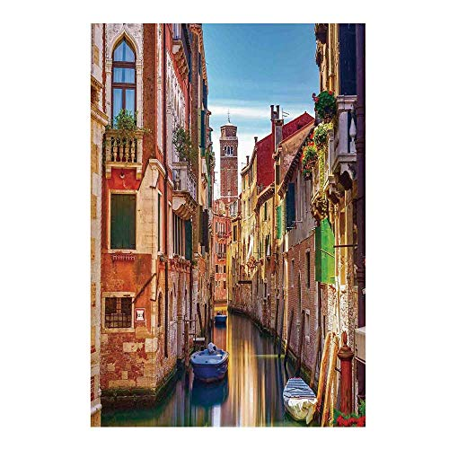 Cityscape Stylish Backdrop,Venice Cityscape Narrow Water Canal Building Traditional Old Buildings Heritage for Photography,59