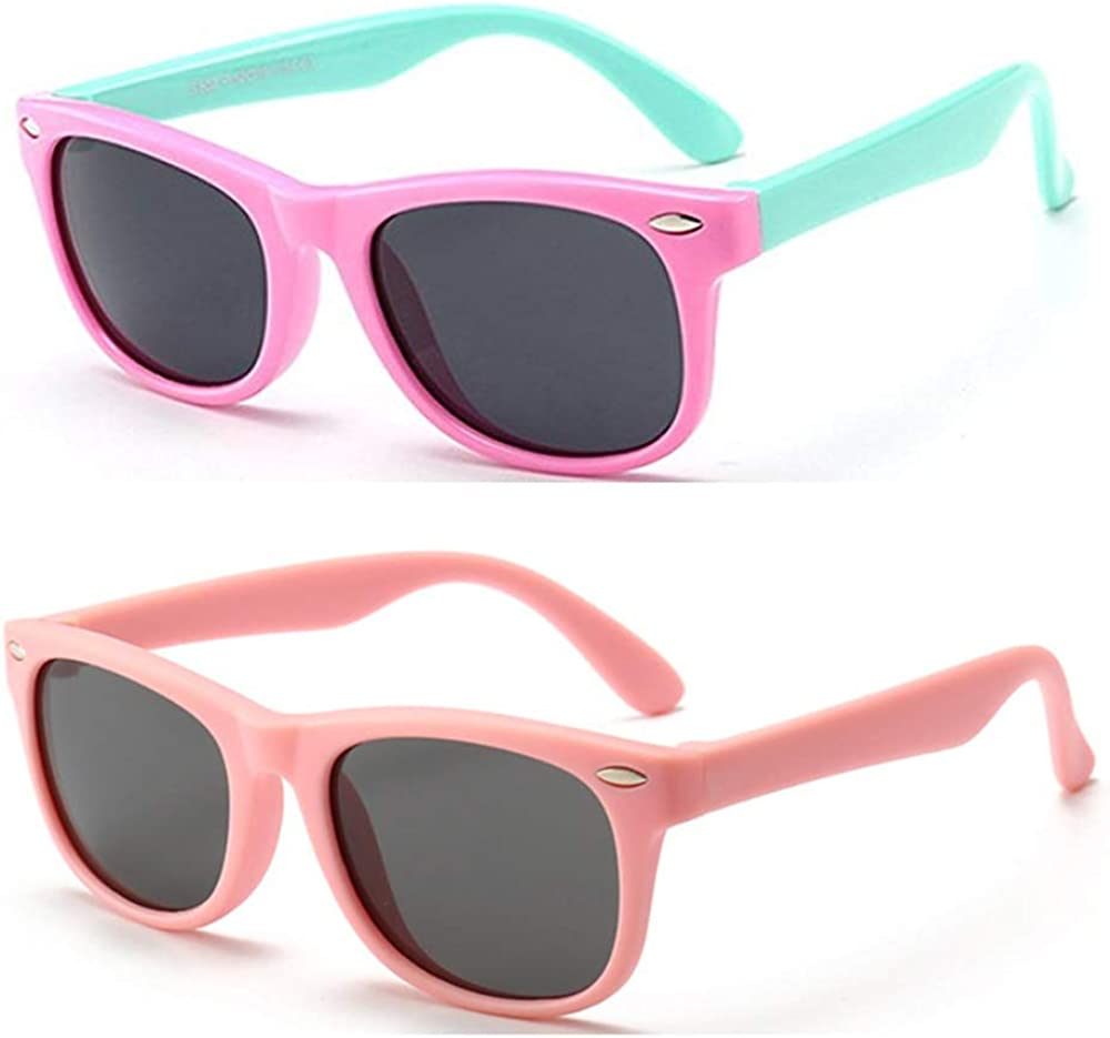 FOURCHEN Kids Polarized Sunglasses Rubber Flexible Shades for Girls Boys Age 3-10