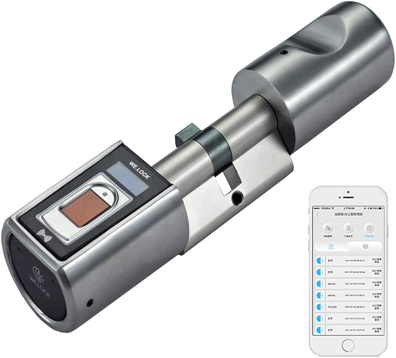 WE.Lock - Bloqueo inteligente con huella dactilar biométrica y control remoto de aplicación Bluetooth en sin llave