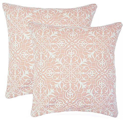 Balmont Collection Yasmine Embroidered Decorative Pillow, Se