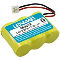 LENMAR CBD312 3.6VOLTS 600mAh REPLACEMENT CORDLESS PHONES BATTERY. Fits AT&T - Lucent Technologies 1445, 1487, 2255, 2422, 4051, 23402, 59768, E5814B, EL42408, D-2/3AA300X3, 3N270AA, BT-31, Casio 3210101, GE - General Electric BT-12, GE-TL26145, GE-TL26155, GE-TL26155, GE-TL86155, GE-TL86155, GE-TL96155, GE - Sanyo GES-PCH03, Gemini 31119, GP Batteries 30AAK3BMJ, 60AAH3BMJ, Panasonic 3-2/3AACA, P-P303, P-303PA, Philips SJB3142, Sanyo CP-3H03, PCH03, Sony BP-T27, VTech P-3303, 80-5074-00-00, 80-5074-02-00, 89-1338-00 Casio Phone Mate 2150, 2450, CP280, GE - General Electric 28021EE2, 28021EE3, 28031EE3, ITT 5130, JVC TN-61, LA Phone LP 1218, Lenbrook Enterprises MICKEY MOUSE Phone, Pacific Bell 800, Sharp CL540, VTech 2111, 2551, GZ2334, ia5870, ia5882, T2326, T2350, 2419, ia5824, ia5847, ia5863, ia5874, ia5878