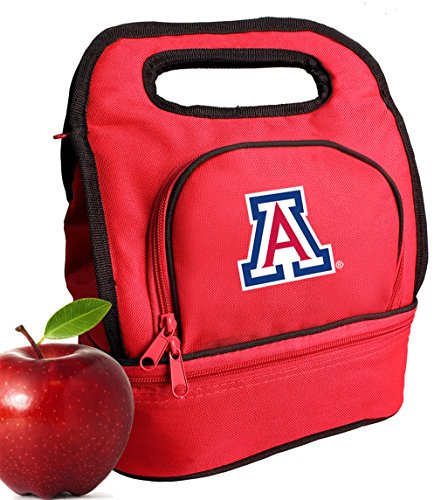 Wildcats Lunch Tote - Broad Bay University of Arizona Lunch Bags Two Section Insulated Arizona Wildcats Lunch Bag
