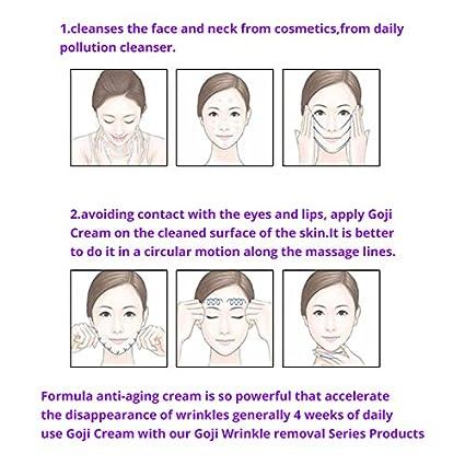 Negro Goji Bayas anti-edad rostro Crema + Arrugas de Escapan Ojo Crema: Amazon.es: Bricolaje y herramientas