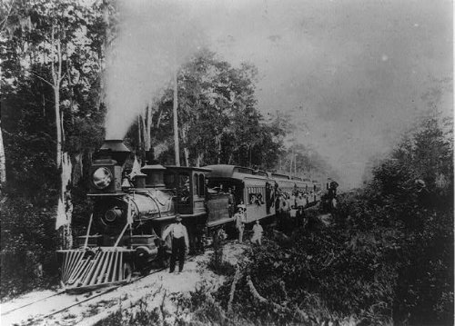 Photo: Excursion train,Jacksonville,St Augustine,Halifax River Railway,East - Augustine Map Shopping St