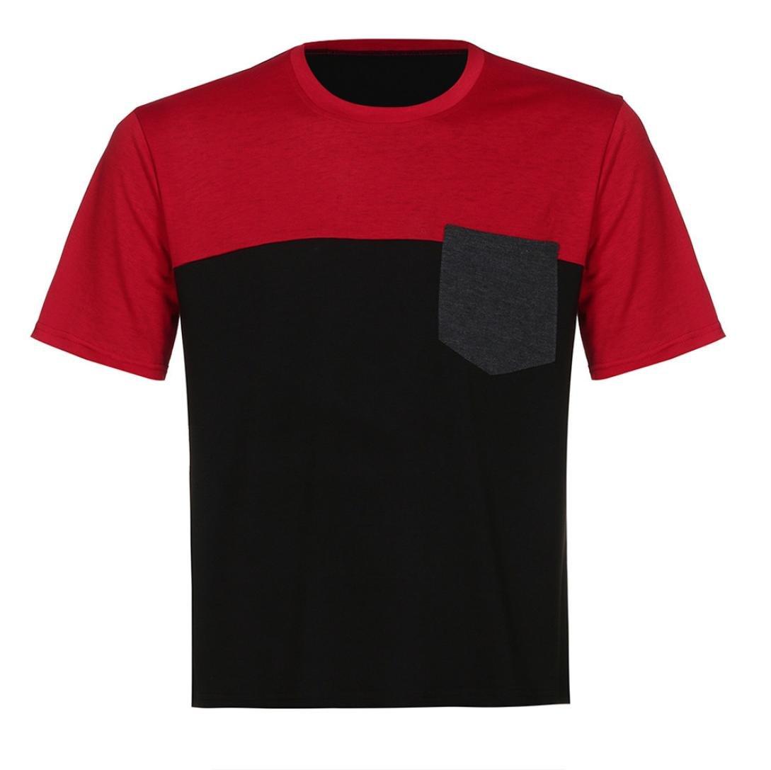 POLP Polos para Hombre Camiseta de Manga Corta con Cremallera y Bolsillo con Cremallera para Hombre Blusa y Camisas Tops Casual Deportivas Ropa de f/útbol S-XXXL