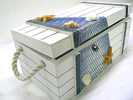 Credenza Per Il Mare : Bauletto cassapanca tema mare marinaio portaoggetti con coperchio in