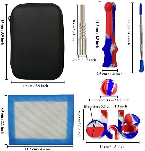 Red White /& Blue Silicone Wax Carving Travel Kit with Honey Straw 6.5