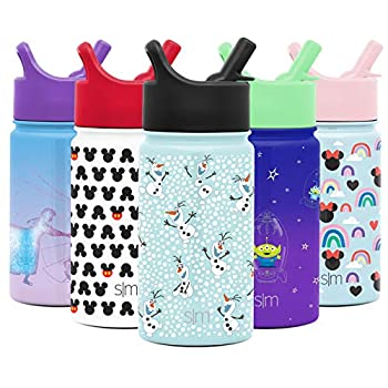 Easy Trendy Disney Frozen Olaf | Children Water Bottle with Straw Lid 14oz Insulated