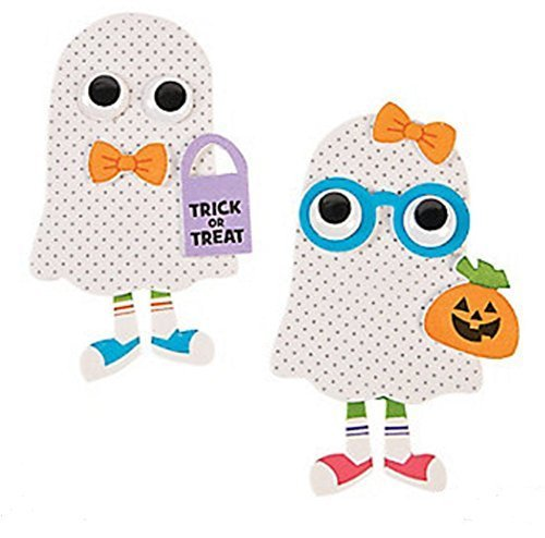 Foam Ghost Kid Magnet Craft Kit (Makes 12) -