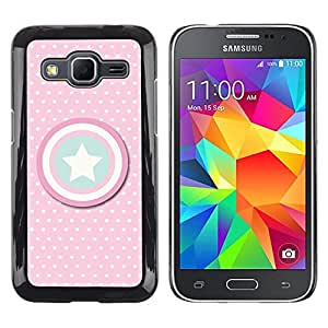 Design for Girls Plastic Cover Case FOR Samsung Galaxy Core Prime Captain Polka Dot America Shield Star OBBA