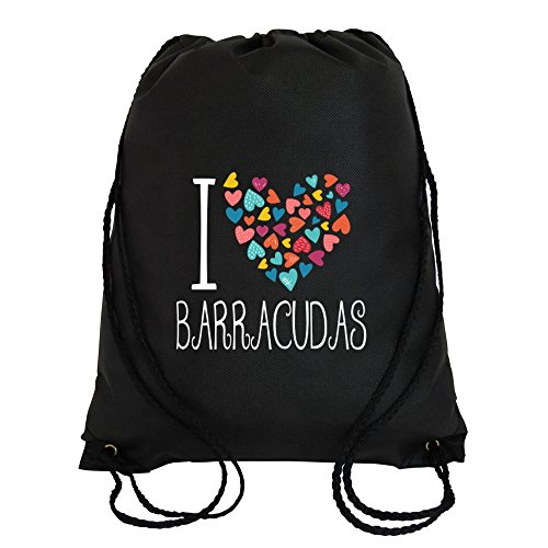 Idakoos - I love Barracudas colorful hearts - Animals - Sport Bag