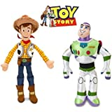 Disney Toy Story Woody and Buzz Lightyear Plush Doll Set