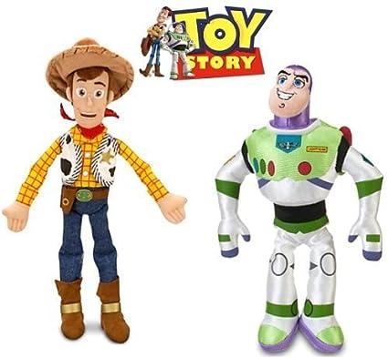 Amazon Com Disney Toy Story Woody And Buzz Lightyear Plush Doll Set