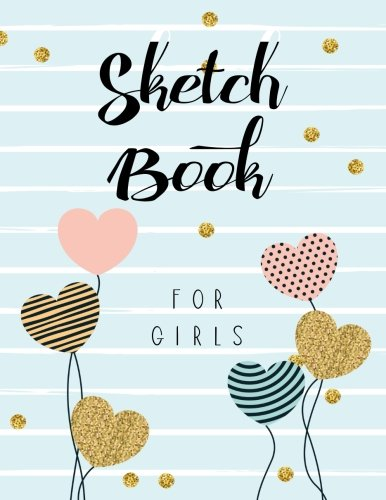 Sketch Book For Girls: Graph Paper Notebook, 8.5 x 11, 120 Grid Lined Pages (1/4 Inch Squares)