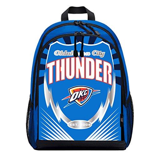 Officially Licensed NBA Oklahoma City Thunder Lightning Kids Sports Backpack, -