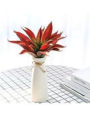 JUSTOYOU Artificial Plants 1ft Wide Green Real Touch Aloe Vera Succulent Plug Plants for Indoor Outdoor Garden Bathroom Decor (Green) (Pearls)