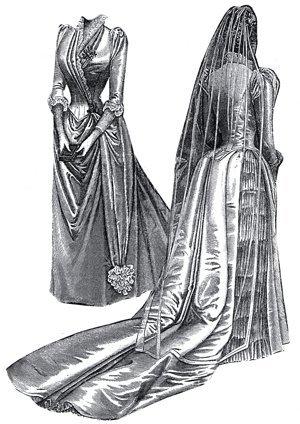 edwardian bridal dress - 4