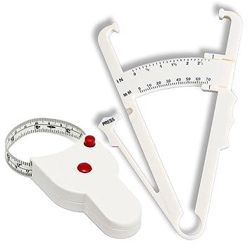 amazon com body fat caliper set measurement charts and detailed