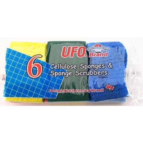 New 316661 Ufo Cellulose Scrubber Sponge 6 Pc (48-Pack) Kitchen Utensil Cheap Wholesale Discount Bulk Kitchenware Kitchen Utensil Apparles.