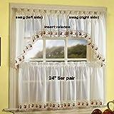 Apple Orchard Kitchen Curtain - 24 tier (pr)