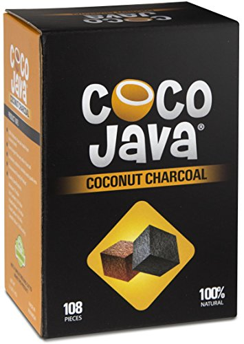 Coco Java Natural Coconut Charcoal Hookah Shisha Coal 1KG/108 Pieces (Best Coil For Flavor)