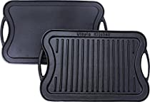 Utopia Kitchen Reversible Cast Iron Grill Griddle, 17 x 10 inch