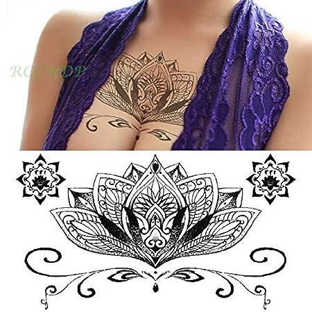 3pcs Tatuaje Impermeable Etiqueta Flores de Cristal de la Mariposa ...