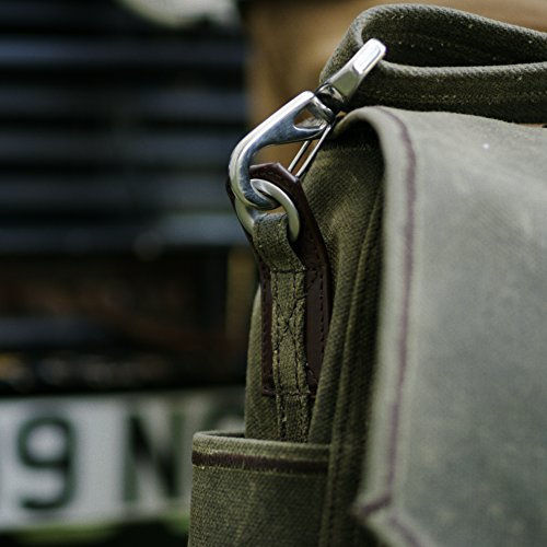 Saddleback Leather Canvas Front Pocket Gear Bag - Messenger Bag with 100 Year Warranty by Saddleback Leather Co. (Image #8)