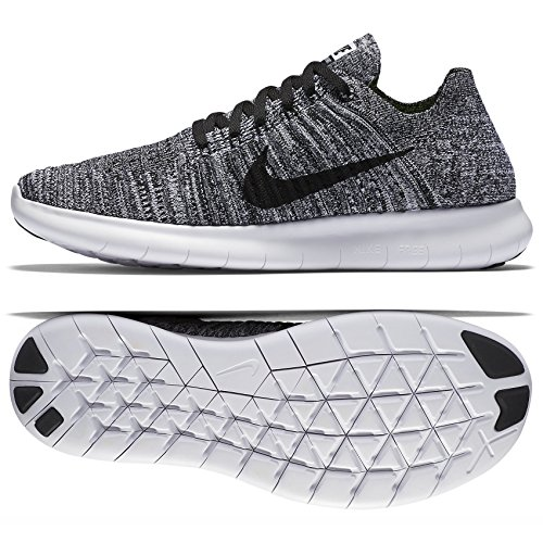 nike-womens-free-rn-flyknit-white-black-running-shoe-8-women-us